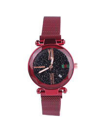 Fashion Red Tape Watch Starry Sky Watch  Electronic Element