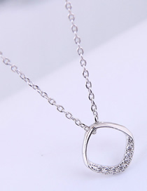 Fashion Silver Copper Plated Real Gold Square Necklace