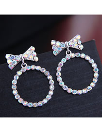 Fashion Silver Bow Earrings
