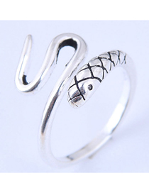 Fashion Silver Snake Opening Ring