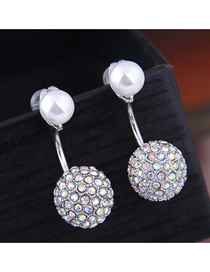 Fashion Silver 925 Silver Needle With Zirconium Beads