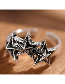 Fashion Silver Meteor Opening Ring