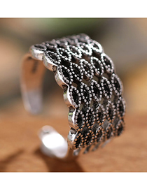 Fashion Silver Dotted Open Ring