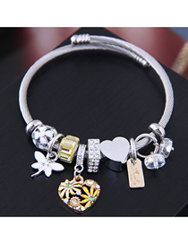 Fashion Yellow Metal Love Bracelet
