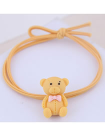 Fashion Yellow Bear Hair Ring