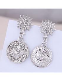 Fashion Silver Metal Asymmetric Earrings