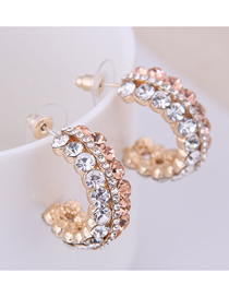 Fashion Gold 925 Silver Needle Flashing Earrings