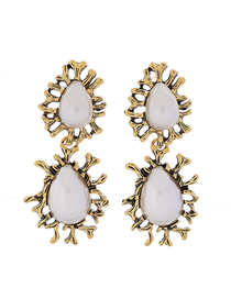 Fashion White Water Droplet Earring