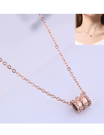 Fashion Rose Gold Titanium Steel Small Waist Necklace