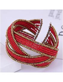 Fashion Red Handmade Rice Bead Bracelet