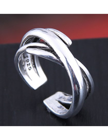 Fashion Silver Geometric Open Ring