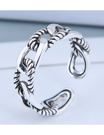 Fashion Silver Openwork Braided Alloy Split Ring
