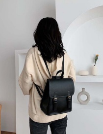 Fashion Black Contrast Stitching Backpack