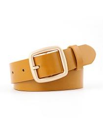 Fashion Khaki Fine Section Buckle Japanese Word Buckle Belt