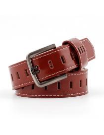 Cinturón De Orificio Hueco Con Hebilla
