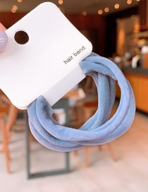 Fashion Blue Knitted Hair Ring