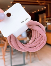 Fashion Pink Knitted Hair Ring