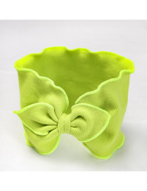 Fashion Fruit Green Knitted Hair Band Knitted Bow Tie