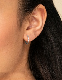 Fashion Steel Color Stainless Steel Plated Earrings