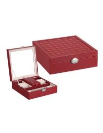 Fashion Jujube Red Multifunctional Wooden Jewellery Box