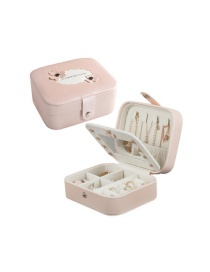 Fashion Bare Powder Button Multi-function Pu Jewelry Box