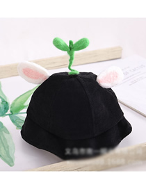 Fashion Bean Sprouts - Black Cartoon Animal Corduroy Baby Fisherman Hat