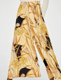 Fashion Color Irregular Wide-leg Pants