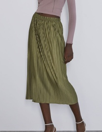 Fashion Ginger Yellow Pleated Bag Hip Skirt
