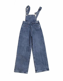 Fashion Blue Denim Overalls