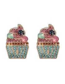 Fashion Blue Ice Cream Stud Earrings