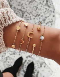 Fashion Gold Love Multi-layer Bracelet