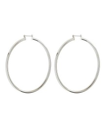 Fashion White K Large Circle Gold-plated Earrings