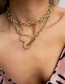 Fashion Gold Love Multilayer Necklace