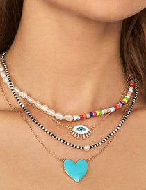 Fashion Blue Love Necklace