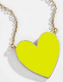 Fashion Yellow Love Necklace