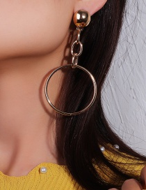 Fashion Gold Metal Circle Earrings