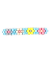 Fashion Light Blue Rice Beads Woven Flower Accessories  Beads