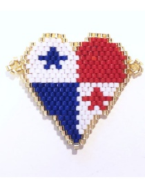Fashion Color Mizhu Weaving Love Accessories  Beads