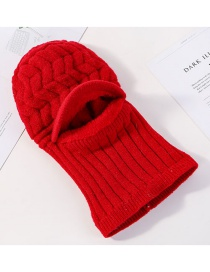Fashion Red Hat Scarf One Wool Cap