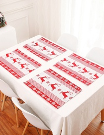 Fashion New Table Mat Deer 1 Piece Of Christmas Embroidery Placemat