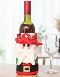 Fashion Half Body Red Wine Bottle Set Snowman Cartoon Santa Claus Wine Bag