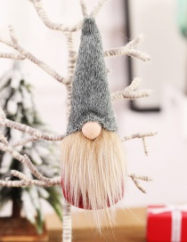 Fashion H Gray Section No Face Doll No Hand Ornaments Faceless Doll Small Christmas Tree Pendant