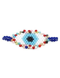 Fashion Color Rice Beads Woven Eye Accessories