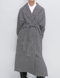 Fashion Lattice Houndstooth Coat