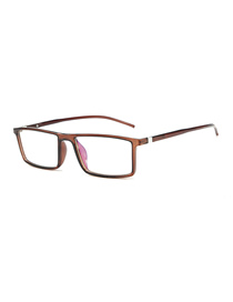 Fashion Dark Brown Frame Square Flat Mirror
