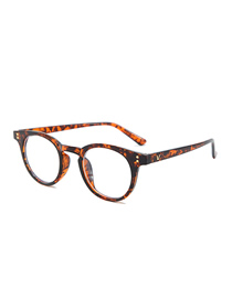 Fashion Tortoise Shell V Brand Anti-blue Flat Mirror