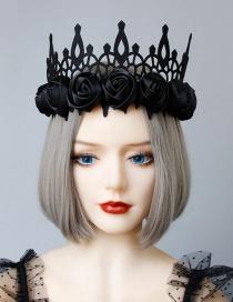 Fashion Black Flower Crown