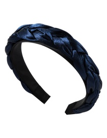 Fashion Blue Satin Twist Braid Headband