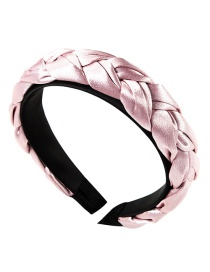 Fashion Pink Satin Twist Braid Headband