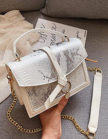 White Chain Shoulder Messenger Bag